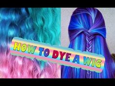 COLOR DYE Synthetic Hair HOW TO Tutorial Cosplay Hairdo Extension wig Tim Hotlz Inks - YouTube