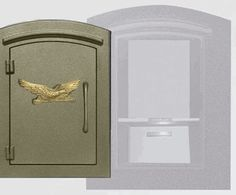 Manchester with security option, Decorative Eagle, Bronze