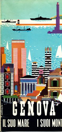 Opuscolo promozionale relativo a Genova (Pampaglini, 1959)