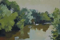 La Sauldre, July Morning Looking East by Philip Richardson