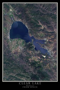Clear Lake California Satellite Poster Map