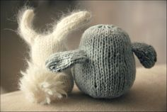 cute knitted baby animals