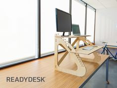 Work healthier at home or the office. Readydesk is lightweight, strong, ergonomic and beautifully designed to setup without tools.