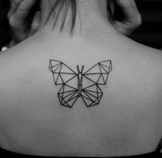 geometric tattoo butterfly