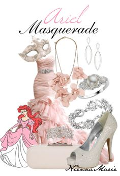 A fashion look from March 2013 featuring silver dress pumps, sterling silver cocktail rings and silvertone jewelry. Browse and shop related looks. Masquerade Outfit, Masquerade Dresses, Masquerade Costumes, Masquerade Party, Disney Princess Dresses, Disney Dresses, Disney Inspired Fashion, Disney Fashion, Princess Style