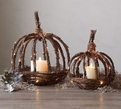 These pumpkins are just wonderfully whimsical! Maybe a front porch idea? #promo #Fall #Autumn #pumpkin #decor #ideas