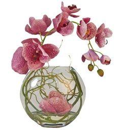 Faux Fushia Phalaenopsis Orchid