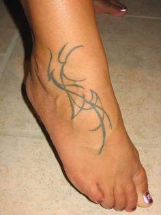 Foot Tattoo # 109 - Tribal foot tattoo idea for girls:)