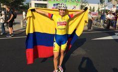 Daniela Lindarte, campeona mundial de maratón juvenil para damas, en el 2015.
