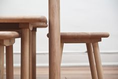 santiago-based design studio bravo has presented 'the nidos furniture set', a furniture series comprised of knock-down tables,  stools and benches. the entire collection is made of lenga, a wood type extracted from the southern chilean forests and developed  through the combination of crafted and industrial processes.