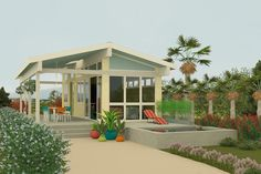 This contemporary design floor plan is 400 sq ft and has 1 bedrooms and has 1.00 bathrooms.