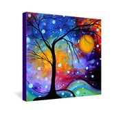 Found it at AllModern - Winter Sparkle by Madart Inc Graphic Art on Canvas - stairway? living room?