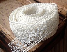 ivory crochet ribbon lace woodland rustic farmhouse by ShyMyrtle, $2.00