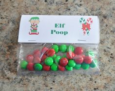 Elf Poop Christmas Treats For Gifts, Christmas Treat Bags, Inexpensive Christmas Gifts, Christmas Goodies, Christmas Holidays, Christmas Ideas, Holiday Party Games, Christmas Activities For Kids, Diy Weihnachten