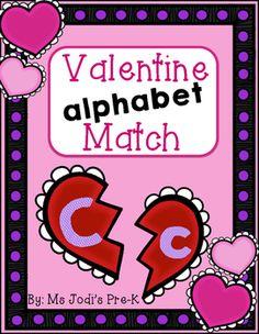 Free! Valentine Alphabet Match