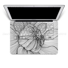 White Flower Macbook keyboard decal mac pro by Newvision2012,