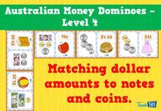 Australian Money Dominoes Level 4