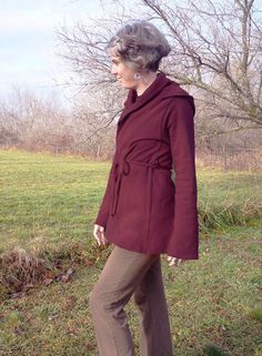 Organic Women's Clothing Open Front Belted Hoodie Cardigan