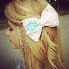 HannahShanae. Marley Lilly Monogram Hair Bow