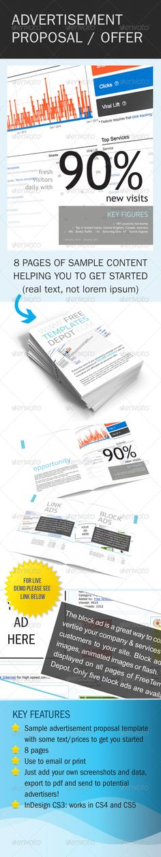 Gstudio Clean Proposal Template by Terusawa G studio, via Behance - advertising proposal template