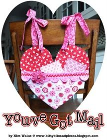 Tutorial: You've got Mail hanging heart shaped valentine's mailboxes