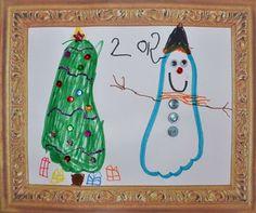 Footprint Christmas Art for kids
