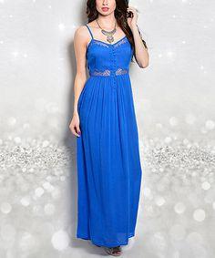 Look at this #zulilyfind! Royal Cutout Maxi Dress #zulilyfinds