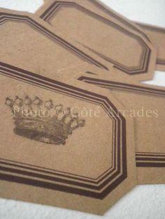 Etiquettes craft autocollantes