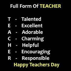 World Teachers, Happy Day, Special Day, No Response, Motivational Quotes, Encouragement, Motivating Quotes, Quotes Motivation, Motivation Quotes