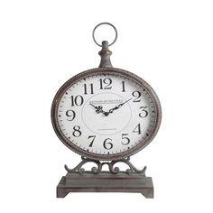 Gray Iron Table Clock