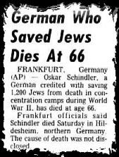 the courageous heart of irena sendler a wwii hero s story  oskar schindler died on 9th 1974 at the age of 66 in hildesheim west