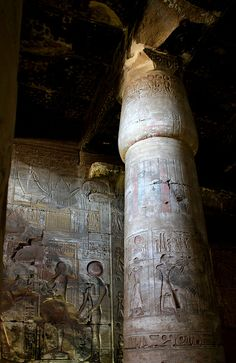 Abydos temple - recall visiting it many years ago. Was amazed that the original colours where very visible as if painted yesterday!!