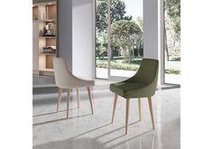 Elegante y refinado sillon tapizado con brazos y con un excelente precio