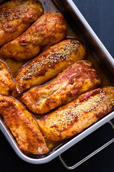 You only need 5 ingredients to create this spicy, healthy, low-calorie chicken dish with delightful oriental accents. | eatwell101.com