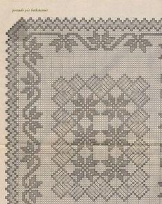 схема к скатерти с орнаментом