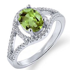 "2.4 ct, 100% Genuine natural stone,.925 Ring New, 2.04 Ct Oval Natural stone, birth stone for August, perfect gift. Absolutely beautiful. Astrological Sign: Leo, Virgo  Features 2.04 Ct Oval 8x6mm Natural Green Peridot .925 Sterling Silver Ring Dimension: 4""x4""x4"",.8oz Jewelry Rings"