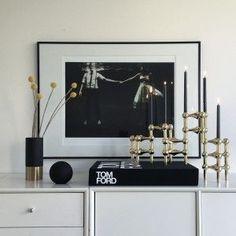 Designfirman Gamla Stan - Hans Nagel candleholder Brass