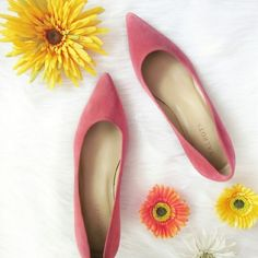 Salmon suede pointed toe heels 9 NARROW Excellent condition. Never worn! Size 9 NARROW. 9AA. Genuine leather upper. 2 inch heel.   Bundle for best deals! Hundreds of items available for discounted bundles! You can get lots of items for a low price and one shipping fee!  Follow on IG: @the.junk.drawer Talbots Shoes Heels