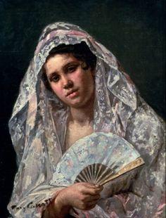 Spanish Dancer Mary Cassatt (1845-1926/American)  - stock photo
