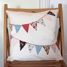 calico bunting pillow