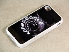Vintage Rotary Phone iPhone 4 iPhone 4S Case, Rubber Material Full Protection and Hard Plastic Case