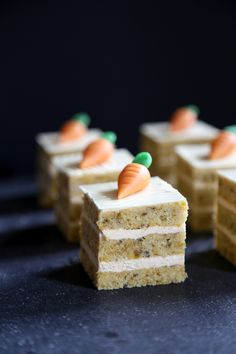 Mini Carrot Cakes with Cinnamon Buttercream Filling