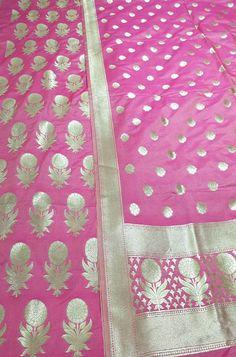 Banarasi Suit, Silk Suit, Pink Fabric, Occasion Wear, Wedding Suits, Indian Art, Textured Background, Cupboard, Tatting