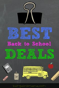Back to School time can be expensive! Find out How to get the Best Back to School Deals here! Bookmark and check daily!