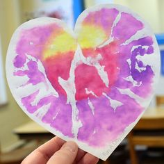 Beautiful and colorful valentine art project for preschoolers - Heart Prints!