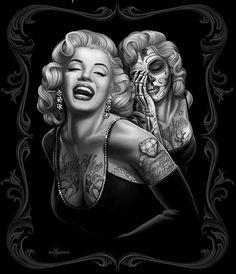 Marilyn Monroe Smile Now Skull Tattoo Throw Shawl Wrap Snuggly Car