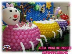 mesa de baloes