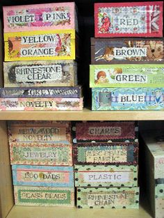 Decorated Cigar Boxes | Decorated Cigar Boxes for Buttons and other ... | Organize it - Sewin ...