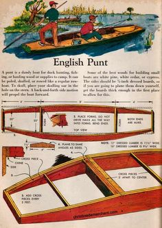 My Boats Plans - free punt plans Master Boat Builder with 31 Years of Experience Finally Releases Archive Of 518 Illustrated, Step-By-Step Boat Plans Plywood Boat Plans, Wooden Boat Plans, Wooden Boat Building, Boat Building Plans, Rc Boot, Canoe Boat, Canoe Trip, Build Your Own Boat, Boat Kits