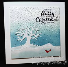 Flurry of Christmas Wishes – Stampin' Up! Card created by Michelle Zindorf - Halloween Scenes Edgelits